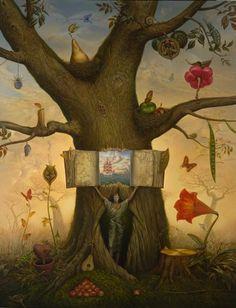 Genealogy Tree : #Surrealism Paintings by Vladimir Kush The painting represents the genealogic tree of art of Vladimir Kush
