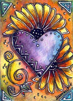 TRADED...SUMMER HEART: BLACK EYED SUSANS  by Margaret Storer-Roche, via Flickr