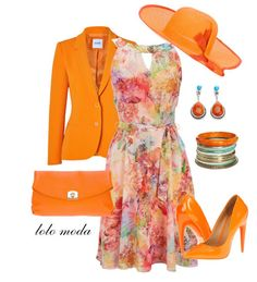 LOLO Moda: Elegant orange dresses for women Kentucky Derby Outfit, Derby Attire, Kentucky Derby Fashion, Derby Outfits, Classy Outfits, Cute Outfits, Tea Party Outfits, Sunday Outfits, Church Fashion