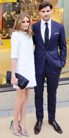 Olivia Palermo-- love the bright accessories against the white dress