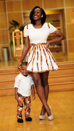 She's so gorgeous. My son and I would totally rock this- he only in the coordinating pattern mos def