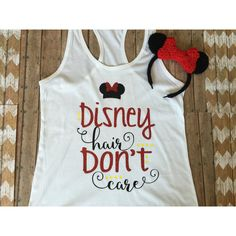 Disney Hair Don't Care Shirt Disney Tank Disney Tee Family Disney... ($22) ❤ liked on Polyvore featuring tops, t-shirts, grey, women's clothing, vinyl t shirt, fitted tee-shirt, grey top, shirt top and fitted tee