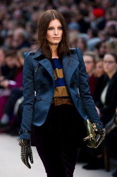 Burberry 2012 -- jacket! bow belt.