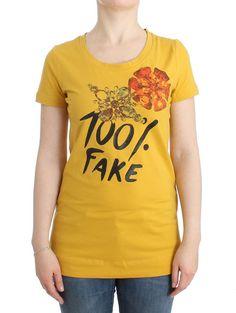 Yellow T-Shirt Short Sleeved Top Blouse