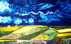 'Wyoming Sky' - 24x48 - Acrylic on canvas - 2008 - early one...