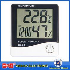 HTC-Camera LCD Digitale Elettronico della Temperatura Misuratore di Umidità Interna Termometro Igrometro Stazione Meteo Alarm Clock