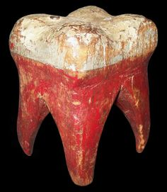 Great folk art antique carved wooden tooth. I should carve one for my kids dentist. In all white
