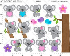 Koala clipart Koala Bear Clip art and Digital by pixelpaperprints