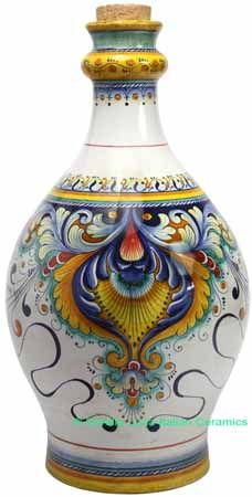 Ceramic Maiolica Decorative Bottle Centerpiece 50cm