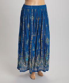 Look what I found on #zulily! Blue Arabesque Maxi Skirt - Plus by Lebaz #zulilyfinds