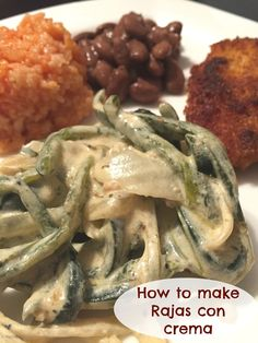 """One of our favorite Mexican recipes is called """"rajas con crema"""" which is slices of pasilla {poblano} chile in a special cream based sauce. ..."""
