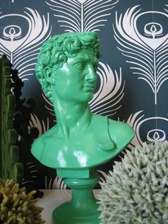 David Bust Statue in Pistachio Green by mahzerandvee on Etsy, $49.00