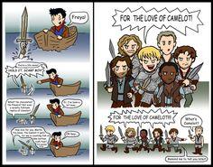 Awww. Love This Merlin fan art