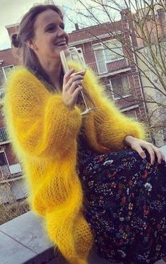 Mohair Cardigan, Yellow Cardigan, Angora Sweater, Long Cardigan, Sweater Cardigan, Cardigan Sweaters For Women, Women's Sweaters, Cardigans, Gros Pull Mohair