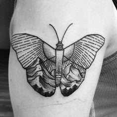 #butterfly #art #tattoo #mountains #sun #blackandgrey #mass #bridgewater