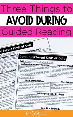 3 Things to Avoid During Guided Reading - Mrs. Richardson's Class