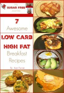 Read More About 7 Awesome Low Carb, High Fat Breakfast Recipes! - My Sugar Free Journey Low Carb Desserts, Low Carb Recipes, Healthy Recipes, Meat Recipes, Delicious Recipes, Crockpot Recipes, Healthy Food, Recipies, Tasty
