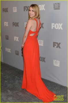 Emma Roberts gets all dolled up for the Fox Broadcasting Company, Twentieth Century FOX Television, and FX post 2013 Emmy Awards party held at Soleto in Los Angeles. #Hollywood #Fashion #Style
