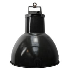 For Sale on - French factory light. Used in warehouses and factories. Weight: kg / lb Priced per individual item. All lamps have been made suitable Vintage Industrial Lighting, French Industrial, Industrial Metal, Industrial Lamps, Chandeliers, Factory Lighting, Black Enamel, Mazda, Light Bulb