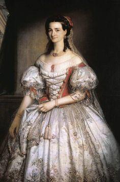 1860 Mihály Kovács - Portrait of Kornélia Hollósy, Hungarian opera singer