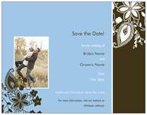 Save the Date Invitations & Announcements blue paisley