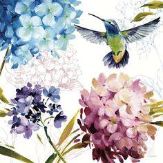 hummingbird and pincushion