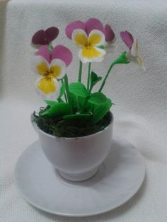 Clay craft pansy