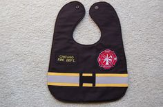 Chicago Fire Firefighter Baby Bib | Shared by LION