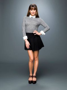 ":Lea Michele: ""Hi my name is Rachel Berry. I love to sing, dance, act, and perform. I am a leader in the Glee Club. I like to have things my way. I put a gol start after my name as a metaphor for me being a star. Anywho I have a crush on this one boy. I am 17 and single. Come say hello?"""