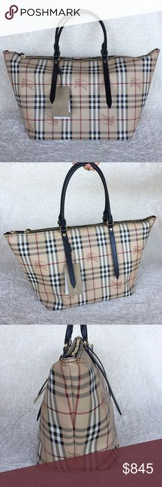 """NEW BURBERRY HAYMARKET MEDIUM SALISBURY TOTE Authentic. Brand new with tags. Made in Italy. This bag will come with care book and dust bag. PLEASE NO TRADE. THE PRICE IS FIRM.  Two leather top handles. Zip closure. Two internal patch pockets. One internal zip pocket. Cotton canvas lining. Measurements: 20""""L at the top, 15""""L at the base, 12""""H, and 7""""W. Burberry Bags Totes"""