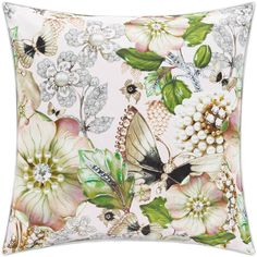 Ted Baker Garden Gem Bed Pillow - 45x45cm (£38) ❤ liked on Polyvore featuring home, home decor, throw pillows, yellow, ted baker, yellow toss pillows, yellow accent pillows, yellow home decor and garden home decor