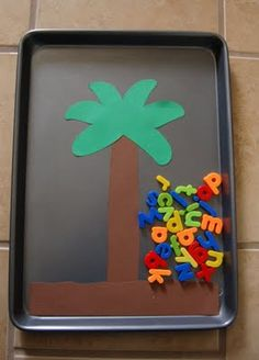 "Great way to make ""Chicka Chicka Boom Boom!"" come to life-  let them do the letters while you tell the story."
