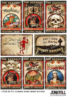 MEPHISTO MATCHBOX from www.junkmill.etsy.com