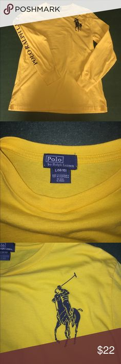Polo by Ralph Lauren Boys Shirt Polo by Ralph Lauren Boys Long-Sleeve T-Shirt, yellow, size Large(14-16) Polo by Ralph Lauren Shirts & Tops Tees - Long Sleeve