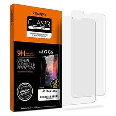 Spigen LG G6 Screen Protector [ Tempered Glass x 2 ] [ Case Friendly ] 2 Pack for LG G6
