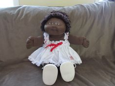 "Vintage Cabbage Patch Kids 18"" African American Cabbage Patch Kid CPK Dress 