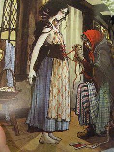 Snow White, illustrated by Trina Schart Hyman Snow White Art, Dark Fairytale, Fairytale Book, Children's Book Illustration, Fantasy Art, Fantasy Life, Childrens Books, Illustrators, Fairy Tales
