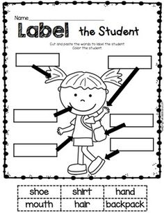 Free Pete The Cat (by James Dean and Eric Litwin) Labeling