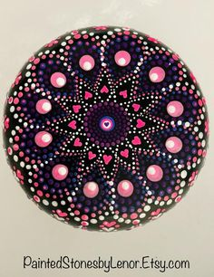 Your place to buy and sell all things handmade Mandela Rock Painting, Stone Art Painting, Dot Art Painting, Mandala Painting, Mandala Art, Mandala Tattoo, Mandala Design, Mandala Painted Rocks, Painted Rocks Kids