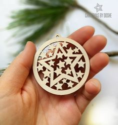 Starry laser cut Christmas tree ornament / Christmas decorations / Star ornament / Christmas decor / Christmas gifts / Christmas star / Idea by DosheEcoDecorCharms on Etsy