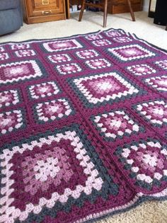 Ravelry: Project Gallery for Granny Square Afghan #LB20155 pattern by Lion Brand Yarn