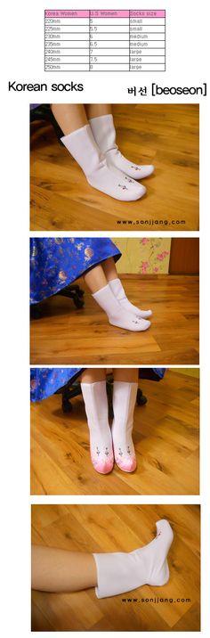Korean traditional socks-beoseon, beosun, korean socks