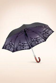 Digital Print Crook Handle Umbrella