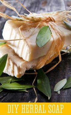 DIY Herbal Provence Soap (Cold Process)