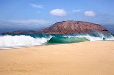 Playa de Las Conchas, Lanzarote - îles Canaries (Espagne)