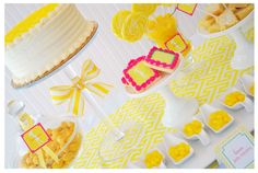 sunshine yellow & pink party palette