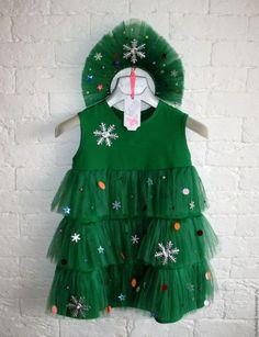 "Купить Новогодний костюм ""ЕЛОЧКА"" - зеленый, костюм новогодний, костюм карнавальный, детский новогодний костюм Christmas Tree Costume, Christmas Tutu Dress, Cute Girl Outfits, Little Girl Outfits, Plastic Canvas Christmas, Sewing Projects For Kids, Carnival Costumes, Applique Designs, Ugly Christmas Sweater"