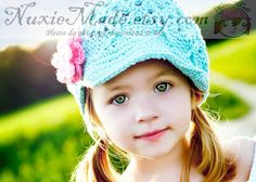 Girls Hat Crochet Hat Child Hat newsboy hat newsgirl by NuxieMade