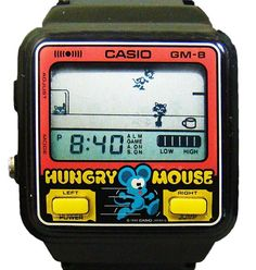 Casio Hungry Mouse Watch 1986 … #casiogame #retrogames #casiohungrymouse #1986 #80swatch #80sdesign #casio #casiowatch #casiogm8