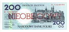 Item specifics     Country:   Poland       [#212284] Poland, 200 Zlotych, 1990, 1990-03-01, KM:171a, UNC(65-70)  Price : $30.62  Ends on : 2 weeks Order Now